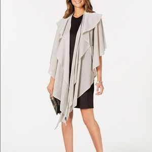 Double draped Sparkle knit wrap